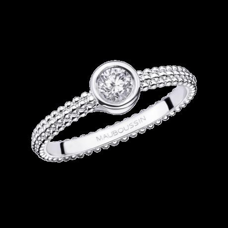 Goutte de Jour ring, white gold, 0,50ct diamond