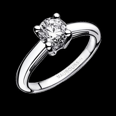 La Bague ring by Mauboussin, white gold, 0,50ct diamond