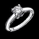 La Bague ring, white gold, 0,50ct diamond