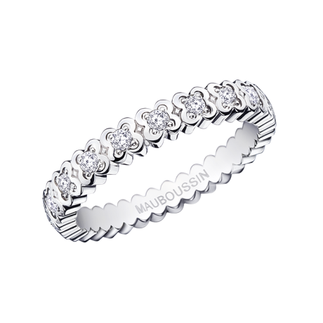 Amour de France ring, white gold and diamonds