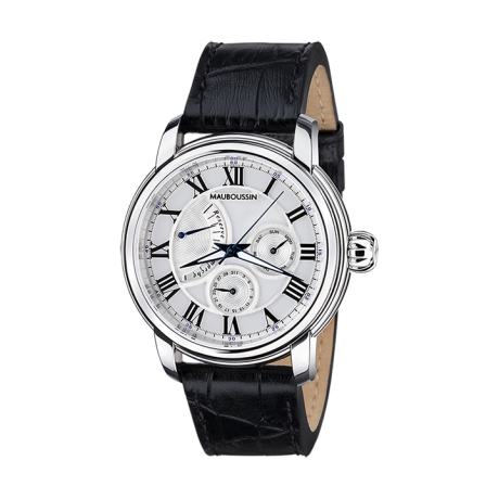Le Temps ne s'arrête jamais watch, automatic movement with power reserve