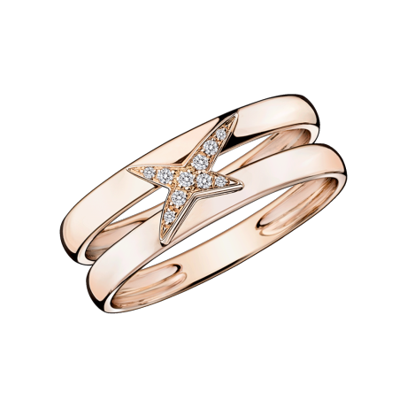 Etoilement Divine ring, pink gold and diamonds