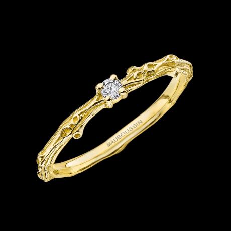 Mon Premier Petit Bisou ring, yellow gold, diamond