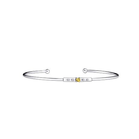 Capsule d'Emotions bracelet, white gold, yellow sapphire and diamonds