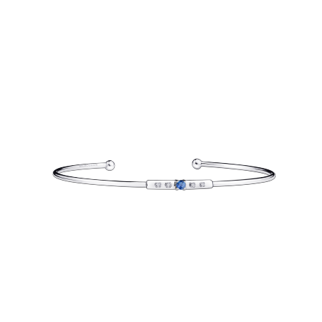 Capsule d'Emotions bracelet, white gold, blue sapphire and diamonds