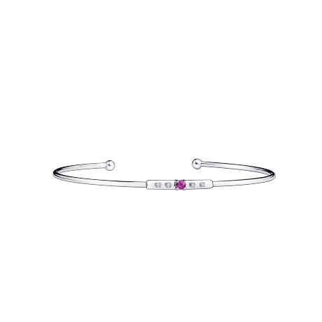 Capsule d'Emotions bracelet, white gold, pink sapphire and diamonds