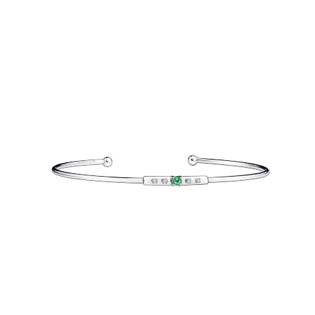 Capsule d'Emotions bracelet, white gold, emerald and diamonds