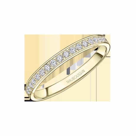 Lovissime wedding ring, yellow gold and diamonds