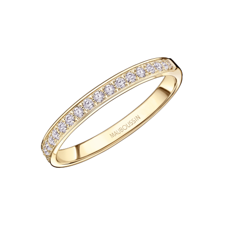Lovissime Aussi wedding ring, yellow gold and diamonds