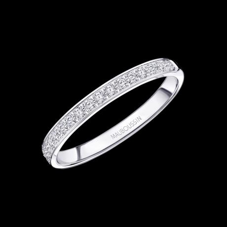 Lovissime Aussi wedding ring, white gold and diamonds