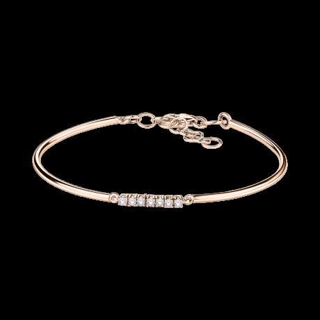 Trois grains d'amour bracelet, pink gold, diamonds