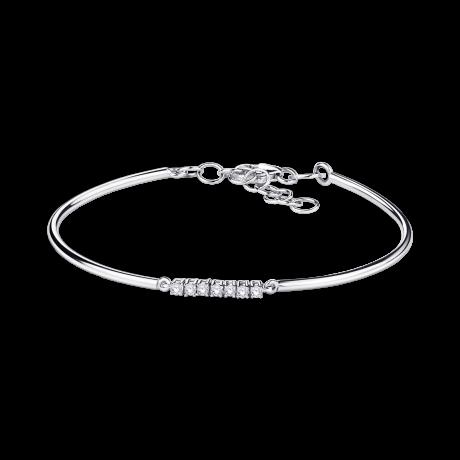 Trois grains d'amour bracelet, white gold, diamonds