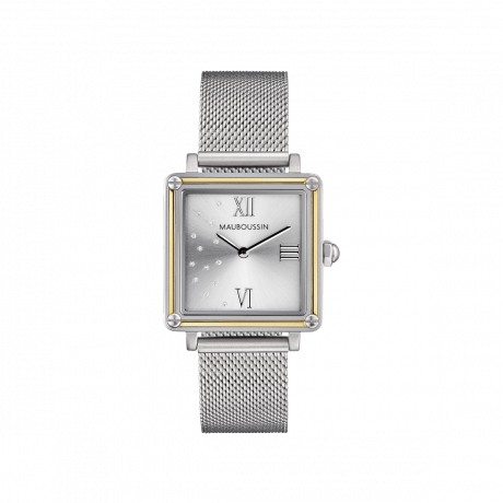 Revendication, Square silver dial with diamonds