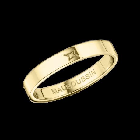 Ruban du Bonheur Mon Amour wedding band, yellow gold, 3.5mm