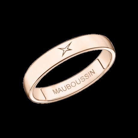 Mon Autre Moi Mon Amour wedding band, pink gold, 3.5mm