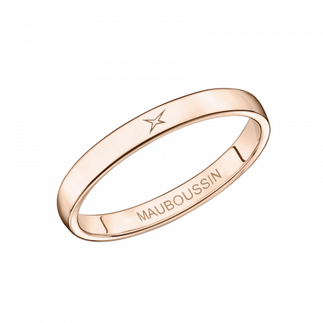 Mon Autre Moi Mon Amour wedding band, pink gold, 2.5mm