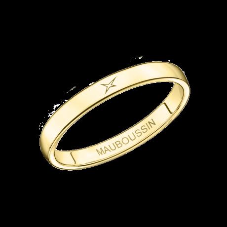 Mon Autre Moi Mon Amour wedding band, yellow gold, 2.5mm
