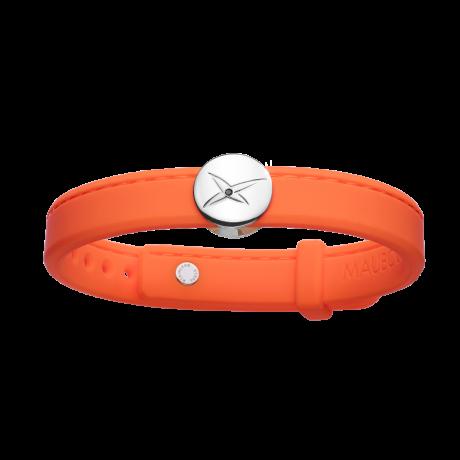 Leonard and Suzan of the Valley orange bracelet, silver