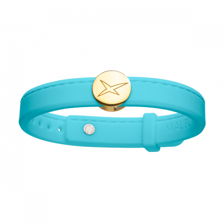 Leonard and Suzan of the Valley turquoise bracelet, yellow gold