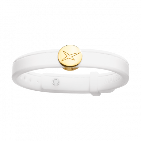 Leonard and Suzan of the Valley white bracelet, yellow gold
