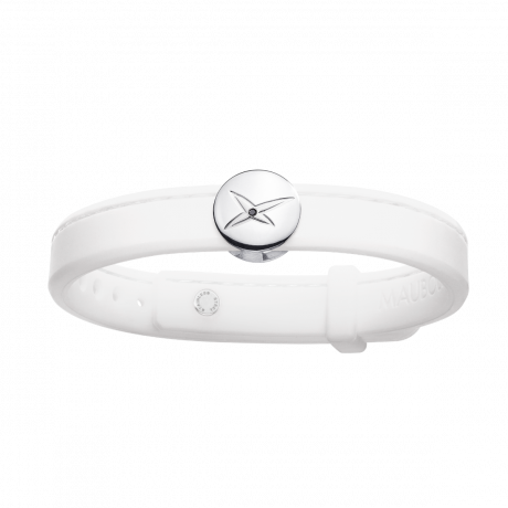 Leonard and Suzan of the Valley white bracelet, silver