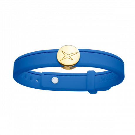 Leonard and Suzan of the Valley blue bracelet, yellow gold