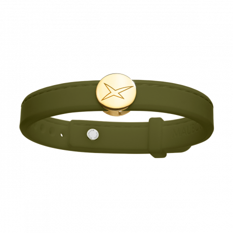 Leonard and Suzan of the Valley khaki bracelet, yellow gold