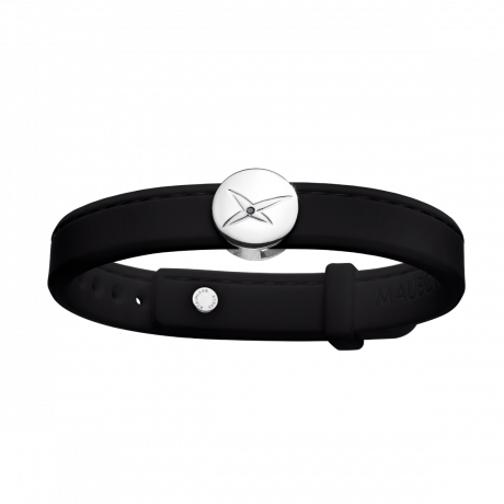 Leonard and Suzan of the Valley black bracelet, silver