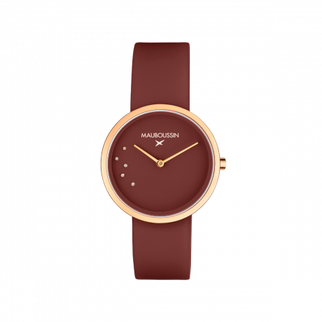L'Heure Caramel, Morello Cherry, Round Steel and Silicon